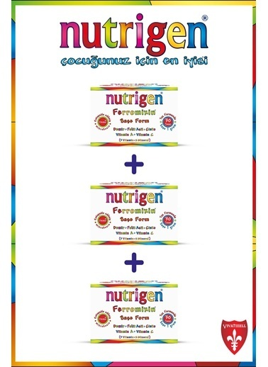 Nutrigen Nutrigen Ferromixin Saşe Form 3'lü Ekonomik Paket 30 Saşe Renksiz